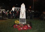 herdenkingsplechtigheid aan het monument