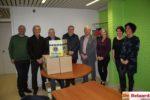 afvaardiging Lions-Club overhandigde de voedselpakketten