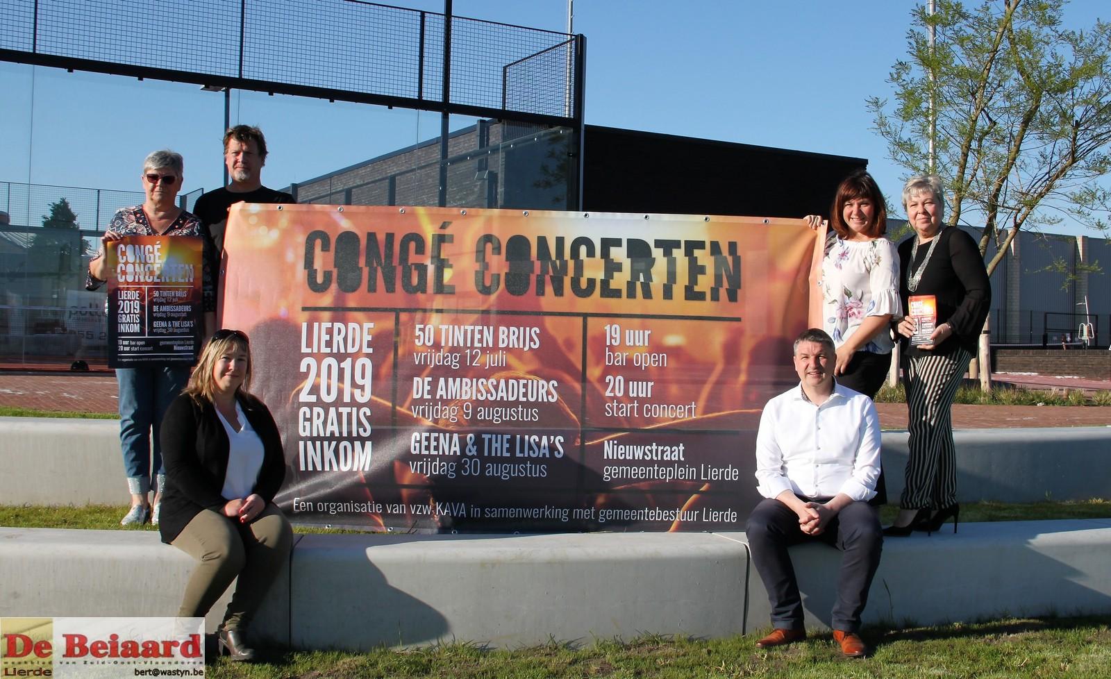 spandoek Congé Concerten Lierde 2019