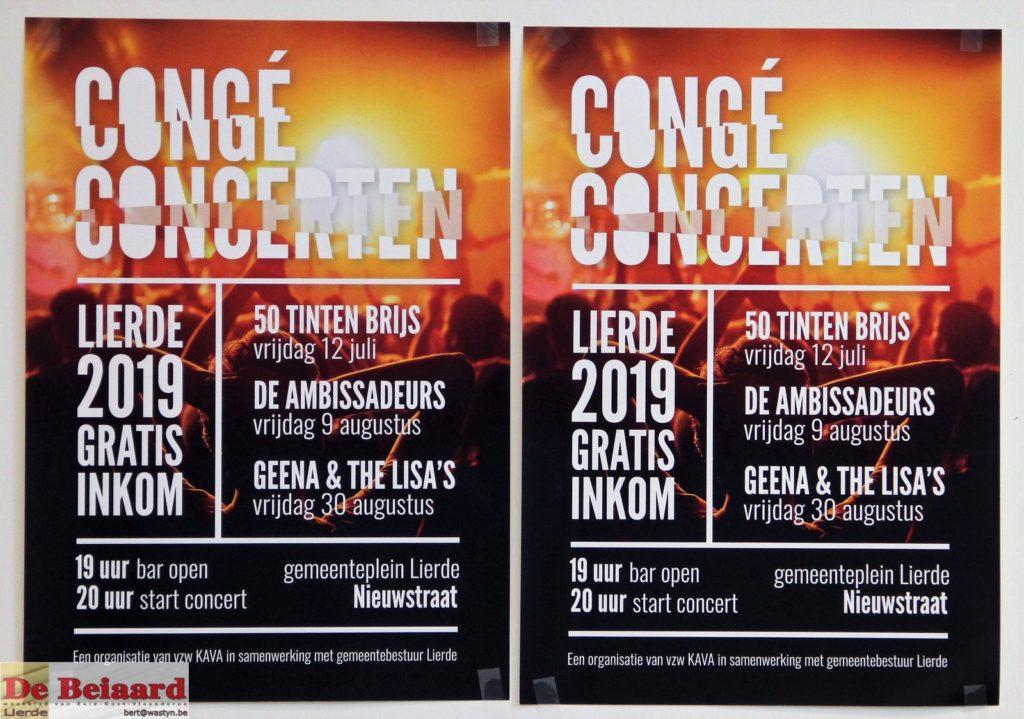 affiche Congé Concerten 2019 Lierde